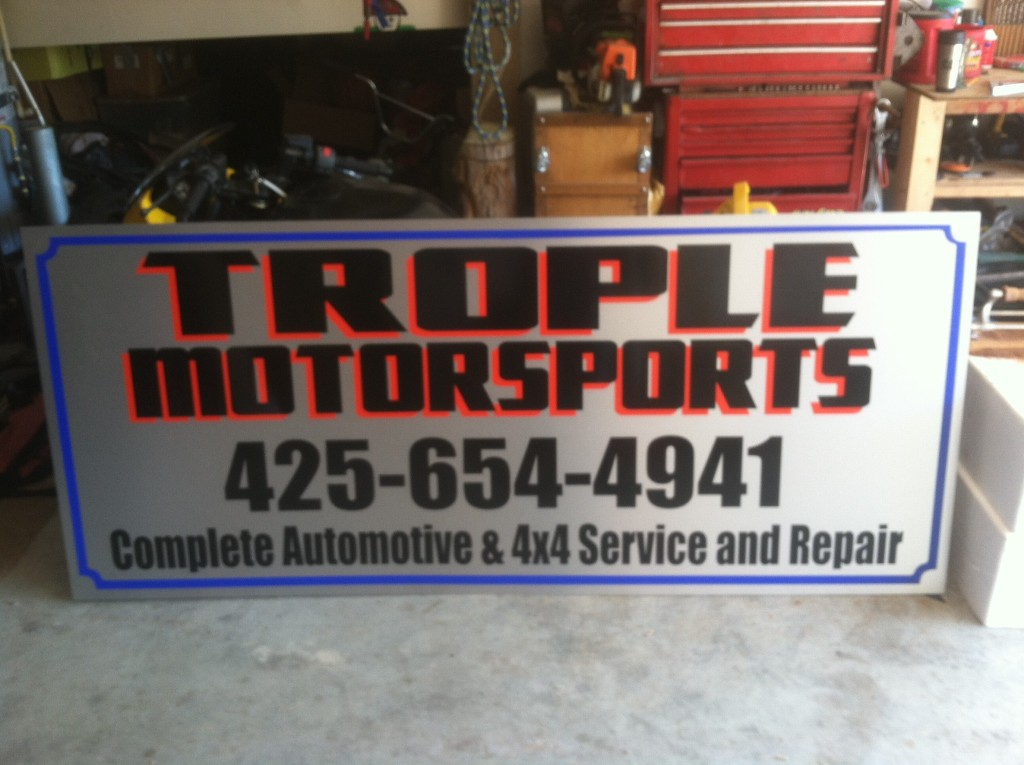 Trople Motor Sports Vinyl Lab Nw Sign Company
