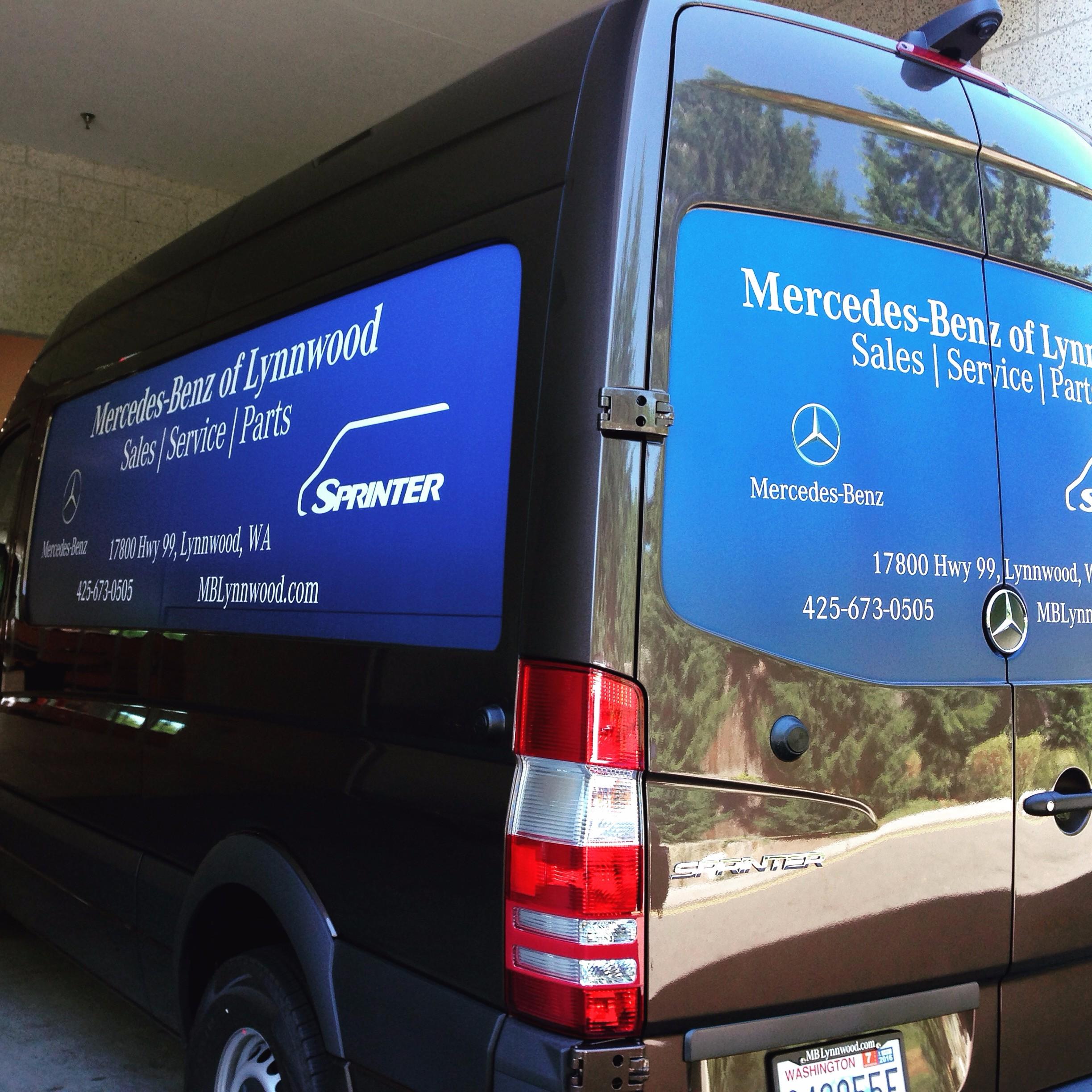 Vinyl Van Wrap For Mercedes Benz Of Lynnwood