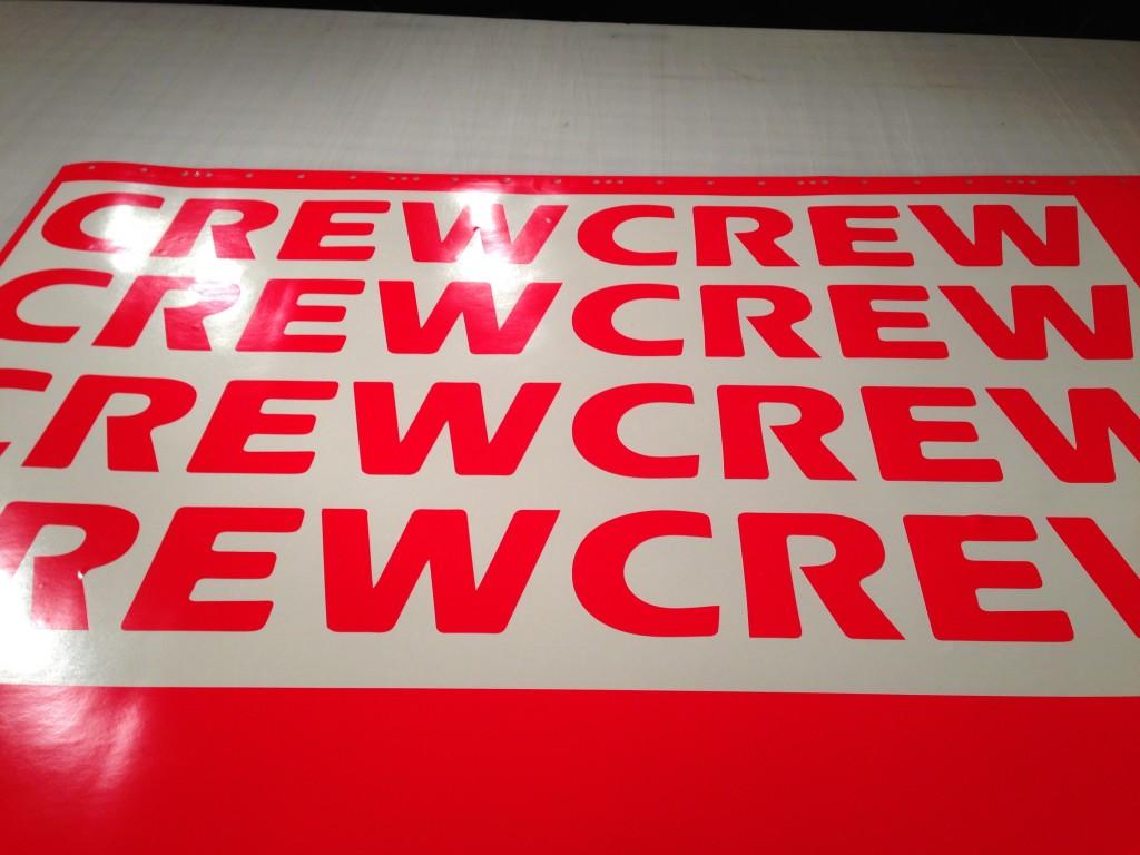 Crew Die Cut Decals Vinyl Lab Nw Sign Company