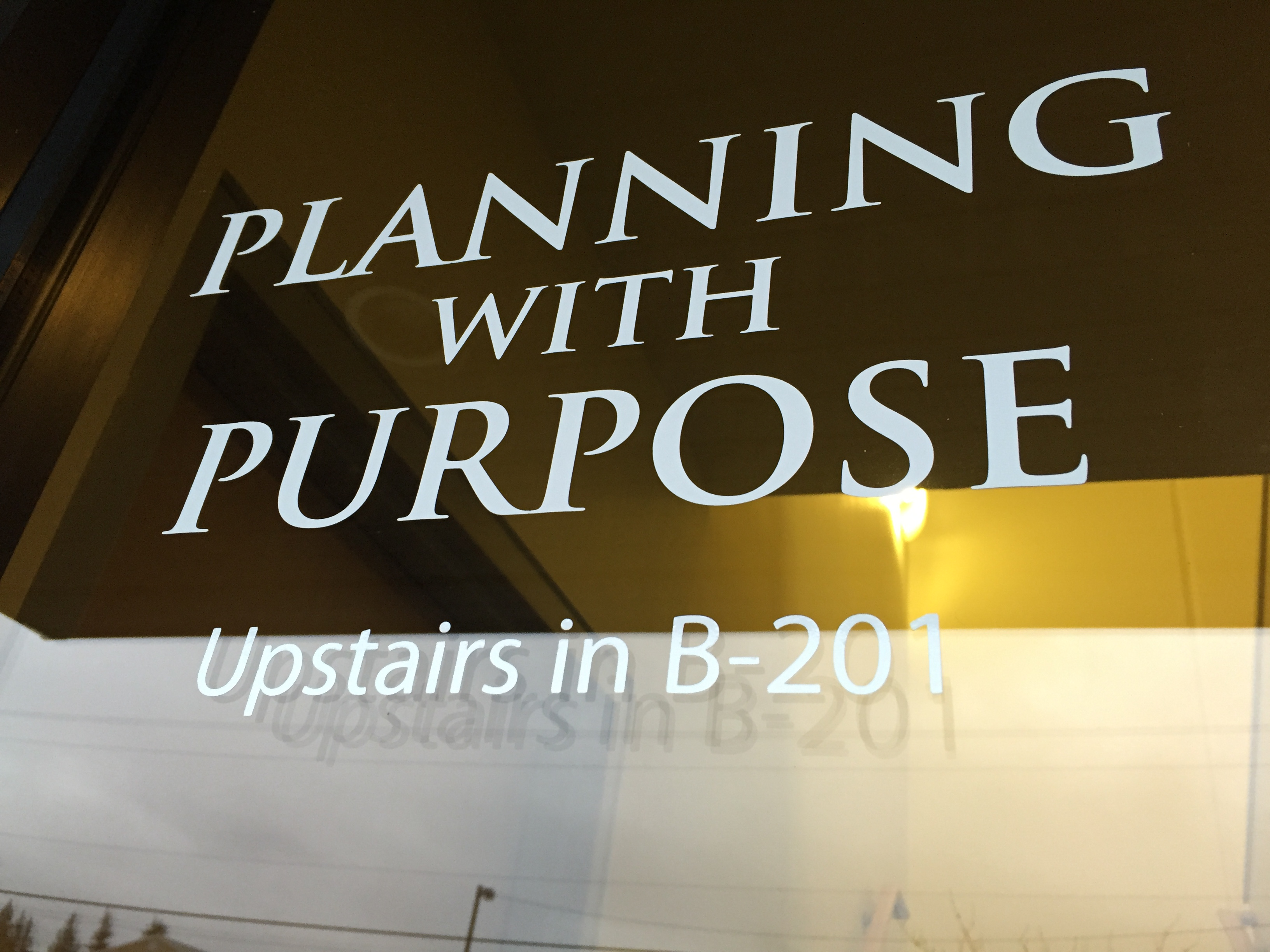 Planning With Purpose Window Lettering Vinyl Lab Nw Sign